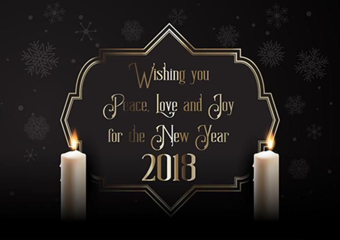 elegant happy new year background with candles