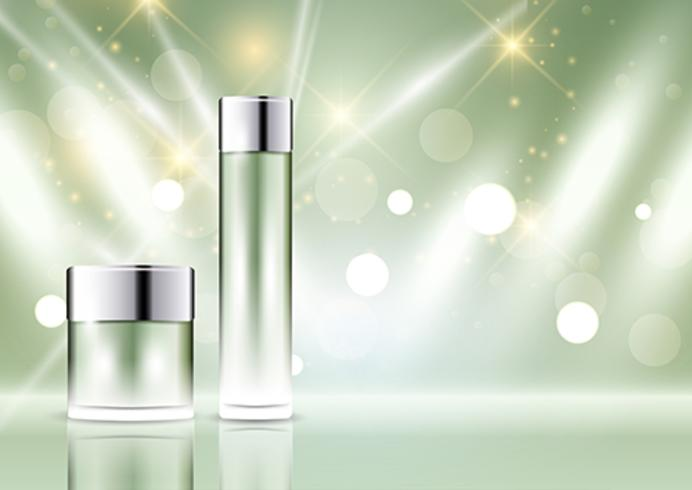 Cosmetic bottle display background