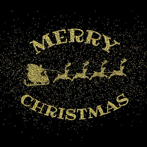 Glitter gold merry christmas background