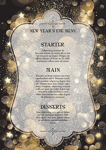 Decorative New Year S Eve Menu Download Free Vector Art