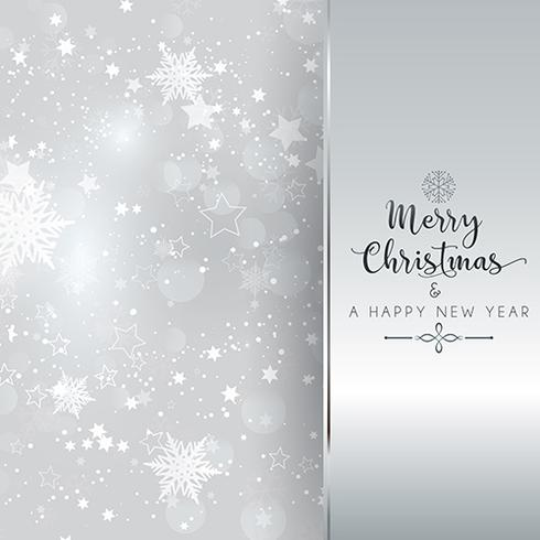 silver christmas and new year background