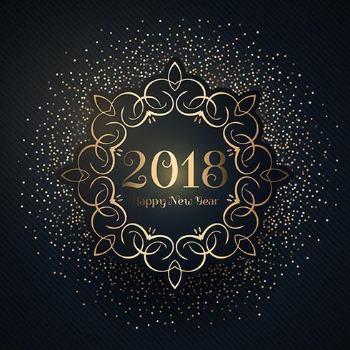 Gott nytt år bakgrund med konfetti