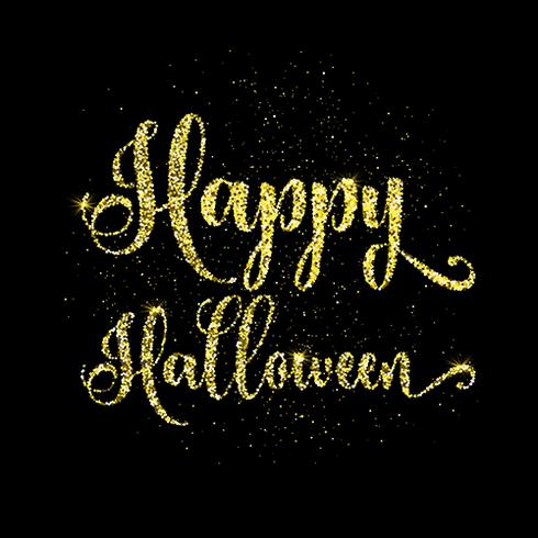 Glitter happy halloween type background