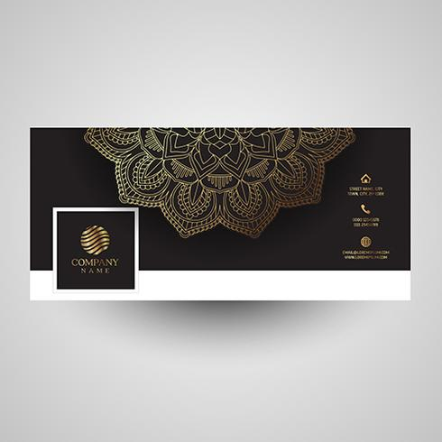 Decorative social media cover with mandala design