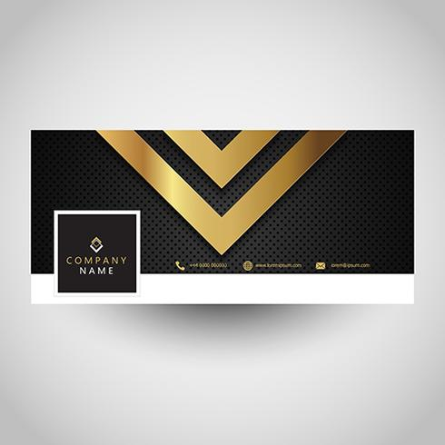 Social media cover with metallic design