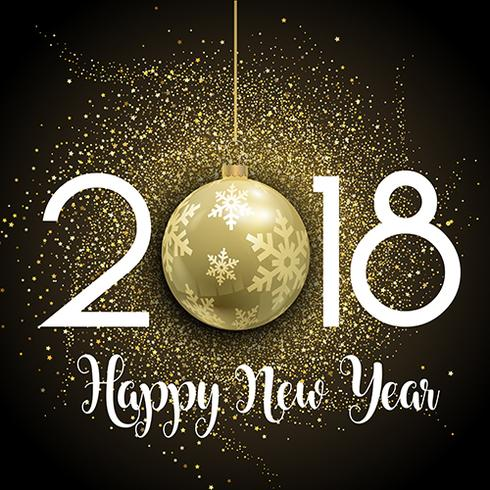 happy new year glitter background