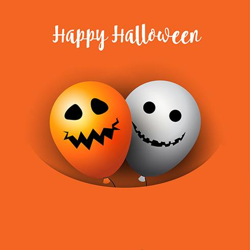 Halloween balloons background