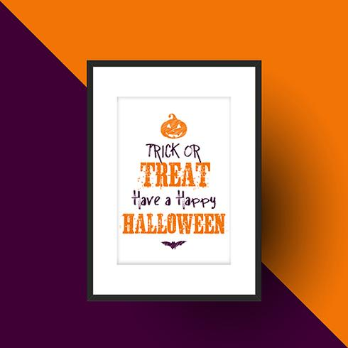 Halloween design in picture frame