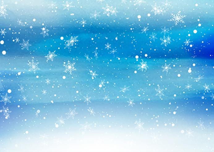Falling snowflakes on a painted background