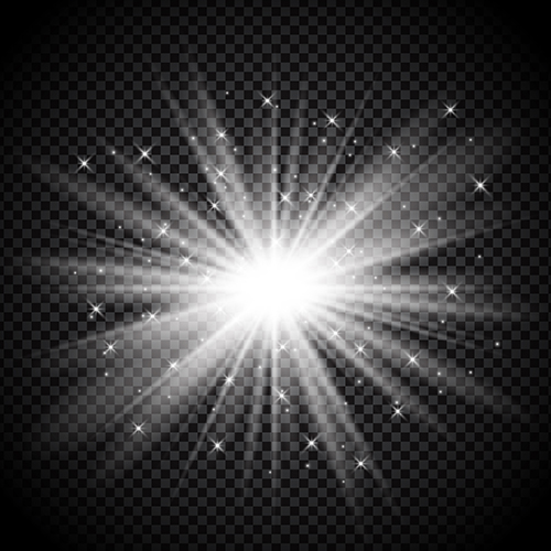 Silver Starburst On Transparent Background Download Free