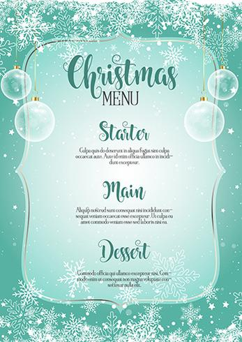 Decorative Christmas menu