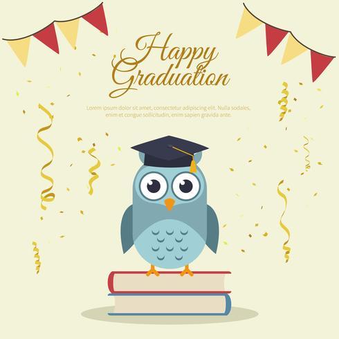 Plantilla de tarjeta de graduación feliz