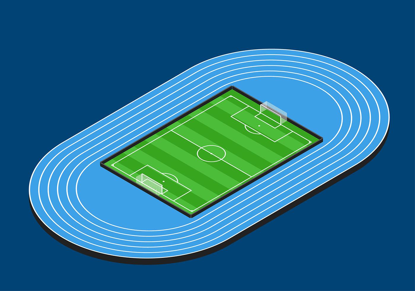 Soccer Field Isometric Vector - Download Free Vector Art ...