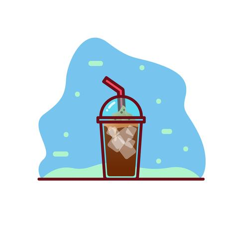 iced koffie vector