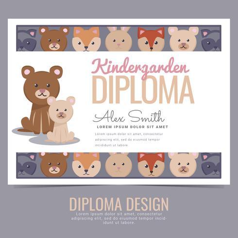 Vector Kindergarden Diploma
