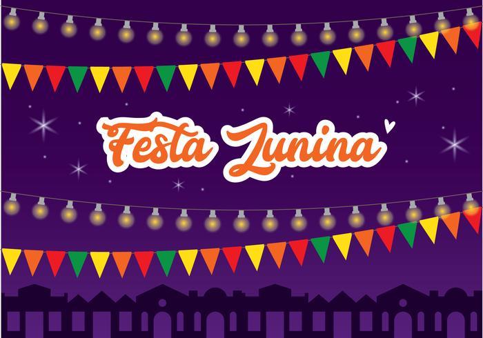 Conception d'affiche de Festa Junina vecteur