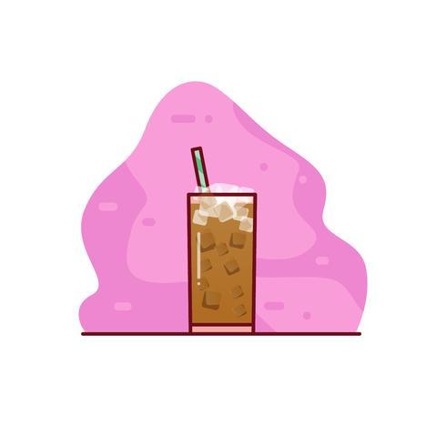 Illustrazione di caffè ghiacciato vettore