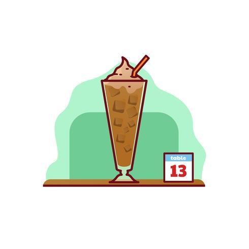 Café flotante helado