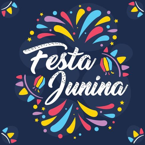 Festa Colorida Junina Vector