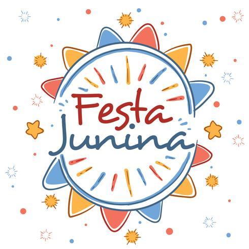 Vecteur de Festa Junina dessiné à la main