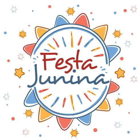 Hand getrokken Festa Junina Vector