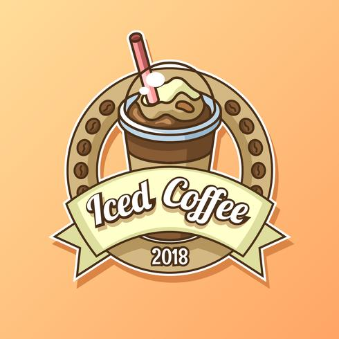 Iced Coffee Logo Vector