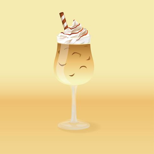 Iced Coffee Cream Vector