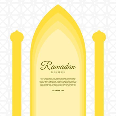 Flat Ramadan Vector Background