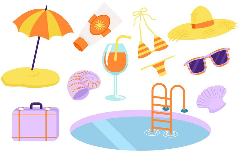 Beach Vacation Vectors - Download Free Vector Art, Stock Graphics & Images