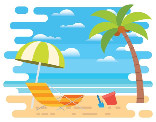 Beach Vacation Illustration