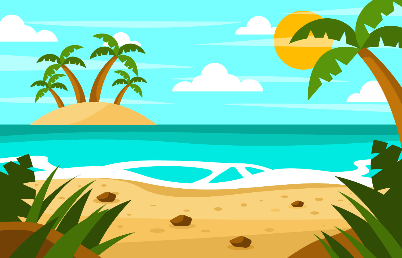 Happy Summer Holidays Background Vector: Holiday Free Vector Art