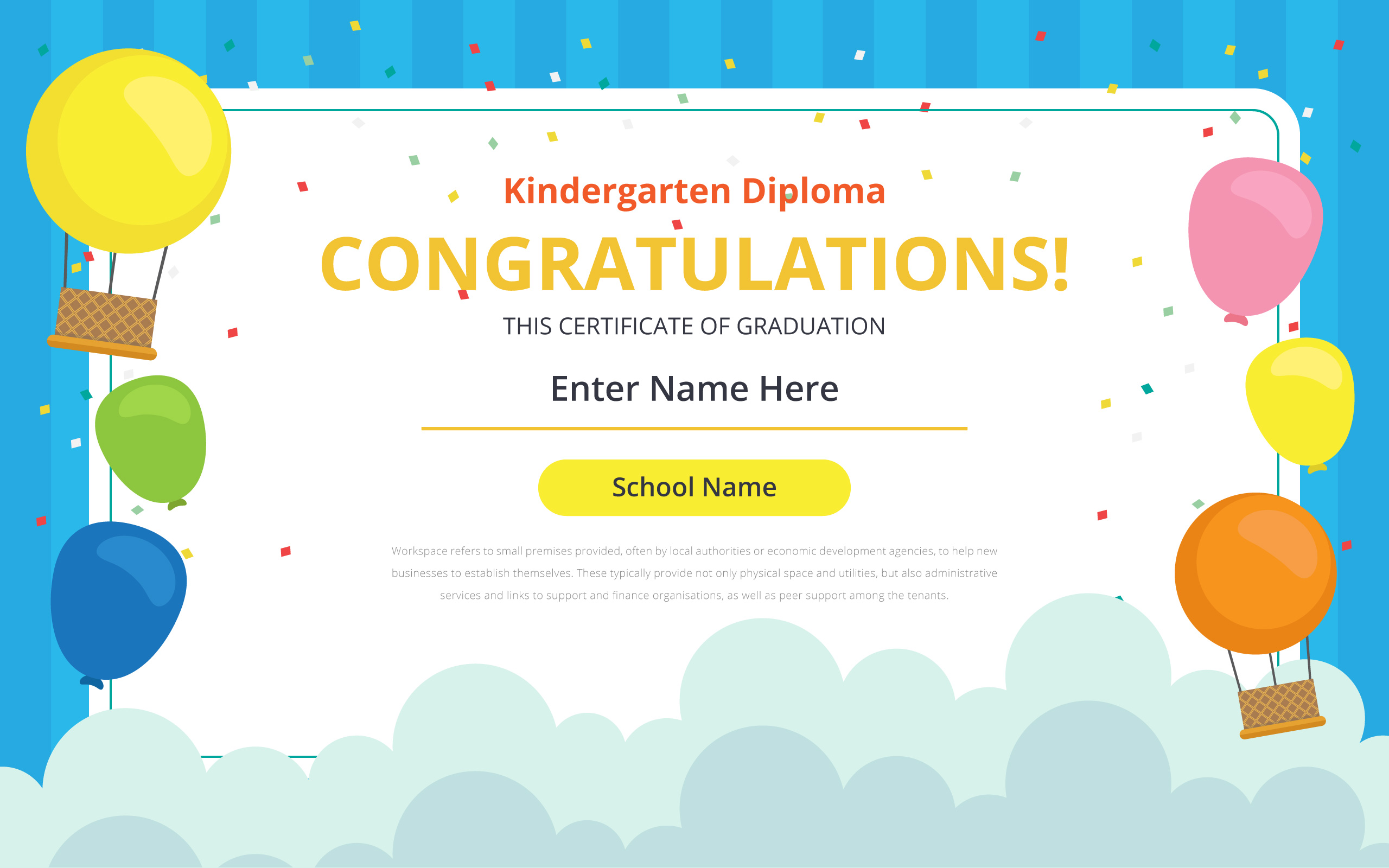 kindergarten certificate free vector art 1650 free downloads