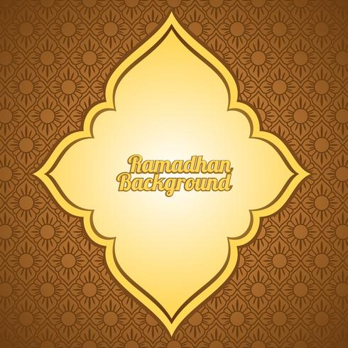 Ramadhan Background Template Vector