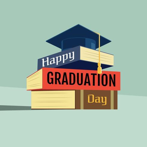 Graduation Card Vector Template