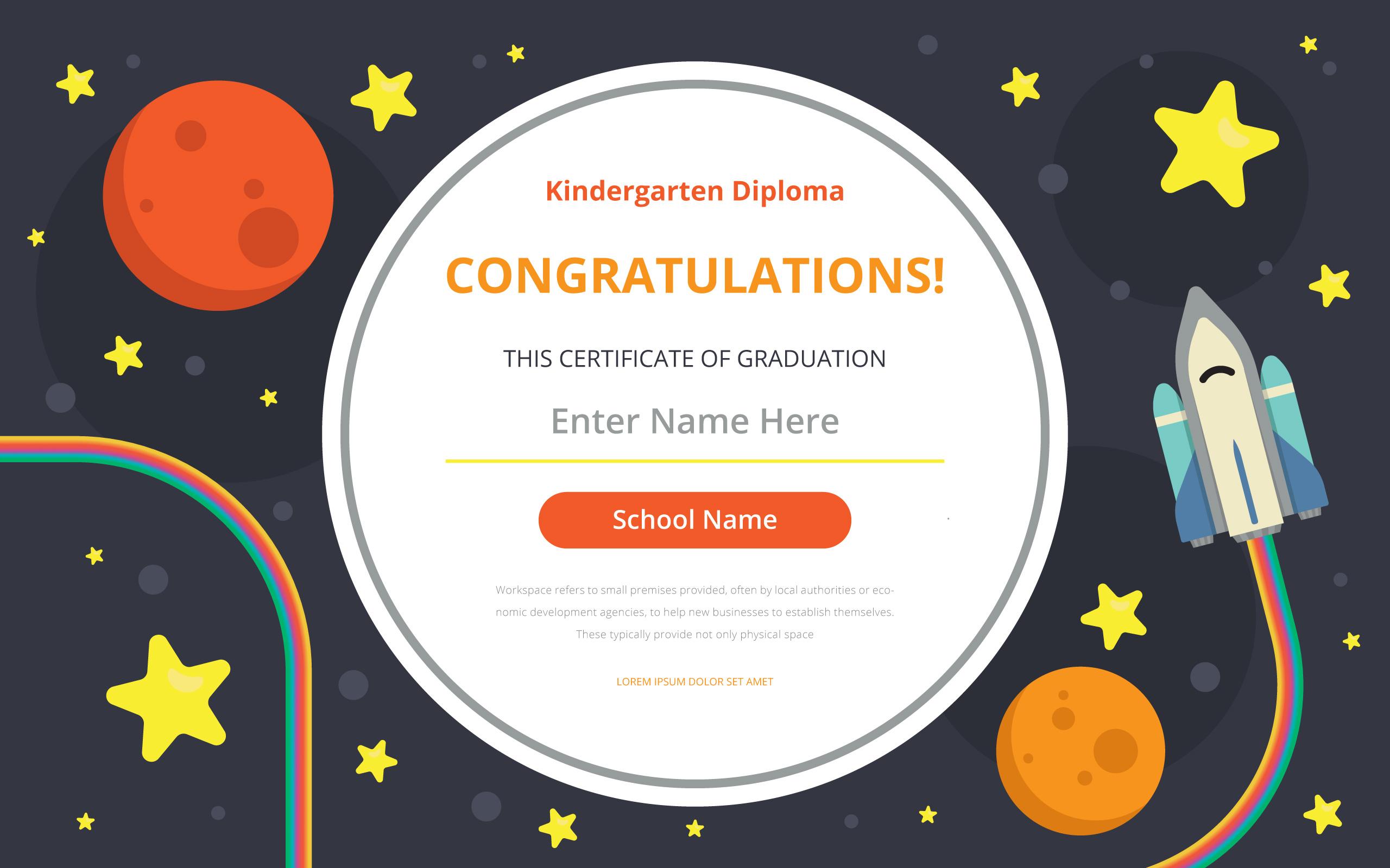 kindergarten-diploma-certificate-template-vector Teacher Letter Template on
