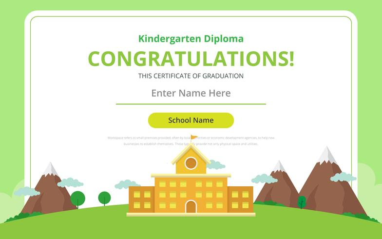 Kindergarten diploma certificate template download free for Mcmap certificate template