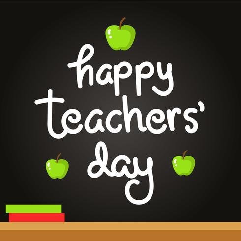 Happy Teachers Day Schriftzug