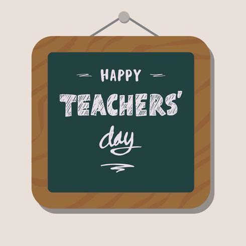Dia da ilustração de saudação de dia do professor