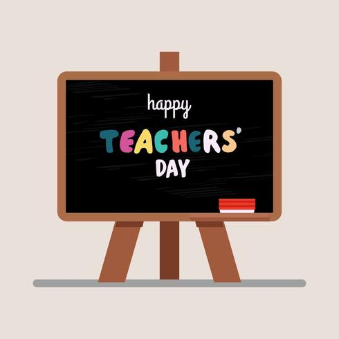 Teacher's Day Greeting Illustration Vector