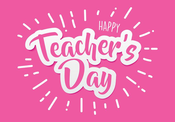 Happy Teachers Day Paper Cutting