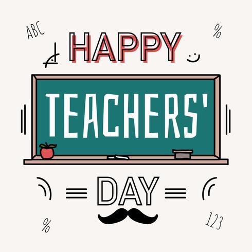 gelukkige leraren dag vector