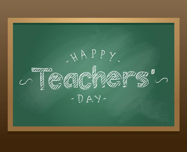Happy Teachers Day Chalkboard Vector
