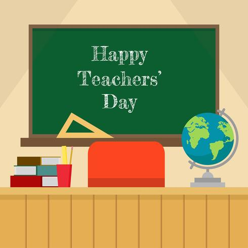 Teachers Day Classroom Vector