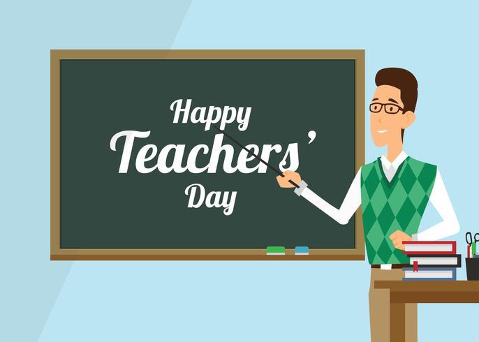 Teachers Day Vector