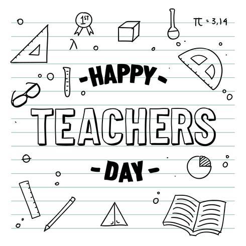 Feliz dia dos professores vetor de notebook