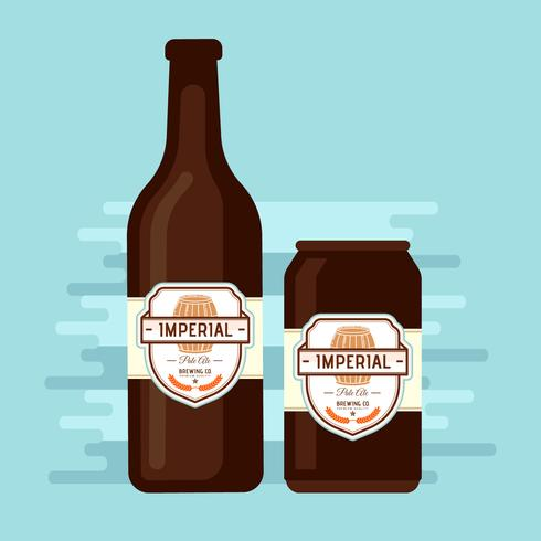 Imperial Pale Ale Beer Vector Label