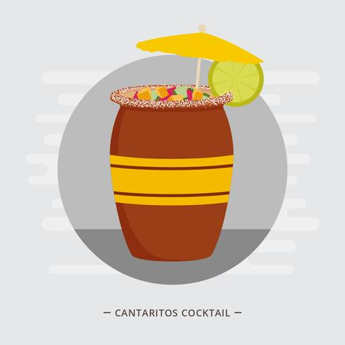 Cantaritos Cocktail Vector Illustration