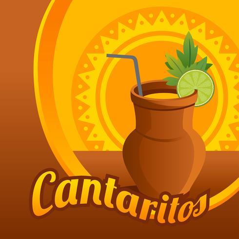 Vector de ilustración de Cantaritos