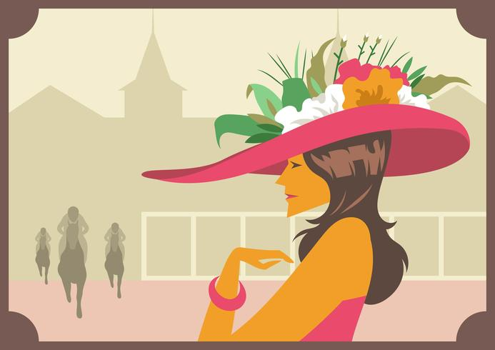 Sombreros Kentucky Derby vector
