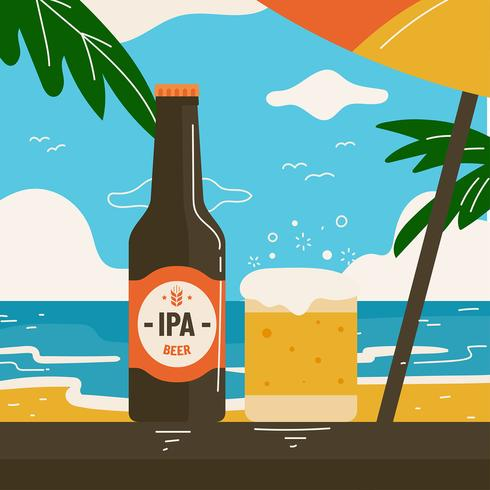 Imperial Pale Ale Beach Vector